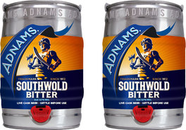 Adnams Southwold Bitter in minicasks. Pic: Adnams.