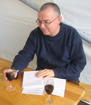 Your author sampling the wares at the Borefts Bierfestival, Bodegraven, Netherlands, September 2012. Pic: Stephen Robinson.