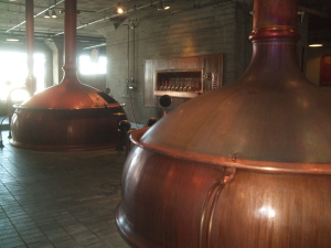 Anchor's vintage German-built copper brewhouse.