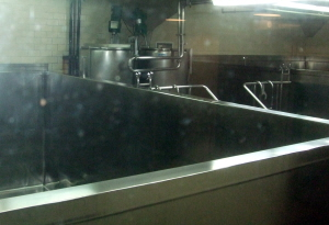 Anchor's Ale Room: British-style square fermenters.