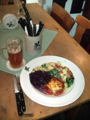 Hearty -- and vegetarian -- fare at Griesbräu.