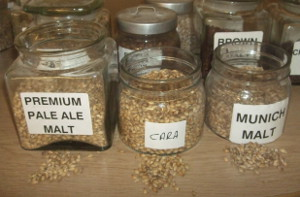 Barley malts used in Brains Craft Brewery Brabo: pale, Munich and caramalt.