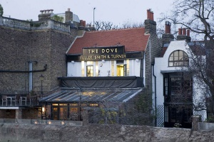 Historic riverside pub the Dove in Hammersmith, on the Fuller's Country walk. Pic: Fuller's.