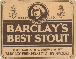 Barclay Perkins label. Pic: Ron Pattinson, barclayperkins.blogspot.co.uk.