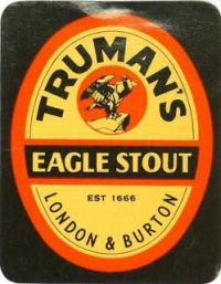 A historic Truman label with famous black eagle trademark still used by the revived Truman's today.