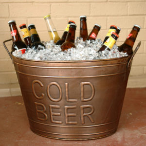 The visual appeal of the chiller tub may not suit every beer. though it's likely advisable for most of those in this photo. Pic: homewetbar.com.